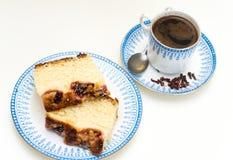 甜早餐用咖啡 图库摄影