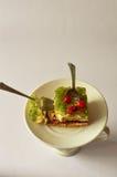 甜早餐饼莓果果冻 库存图片