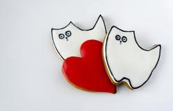 甜曲奇饼为假日 心情是快乐的 明信片的模板 库存图片