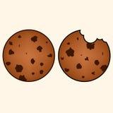 甜曲奇饼在手中被画的样式 免版税库存图片