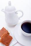 甜曲奇饼饼干用无奶咖啡 免版税库存图片