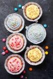 甜杯形蛋糕 库存图片