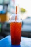 甜柠檬冰了茶 免版税库存照片