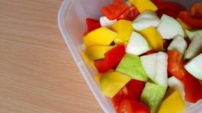 甜椒、番石榴和芒果 免版税图库摄影