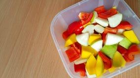 甜椒、番石榴和芒果 免版税库存图片