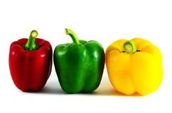 甜椒有一五颜六色 免版税库存照片