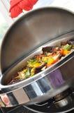 甜椒牛肉和辣椒粉 免版税图库摄影