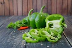 甜椒被分类的五颜六色的品种  免版税图库摄影