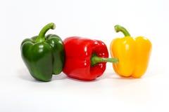 甜椒,在白色背景的甜椒 免版税库存照片