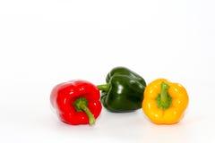 甜椒,在白色背景的甜椒 免版税库存图片