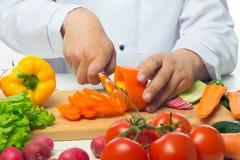 甜椒,裁减成在背景的稀薄的圆环 库存图片