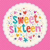 甜点十六卡片 库存图片