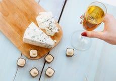甜点和乳酪Dorblu 免版税库存图片