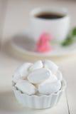 甜点和咖啡 免版税库存照片