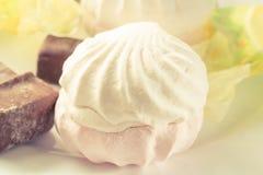 甜点和巧克力 免版税库存图片
