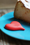 甜点和心脏 免版税库存照片