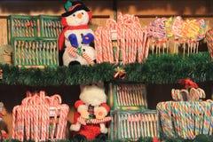 甜点在实验者的圣诞节市场上 库存照片