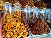 甜点干海鲜在海鲜市场上 免版税库存照片