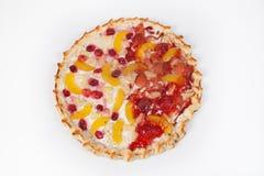 甜点开放饼 图库摄影