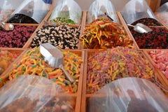 甜点待售在市场上 图库摄影