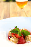 甜点心的草莓 图库摄影