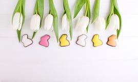 甜点框架为庆祝复活节 图库摄影