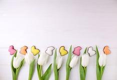 甜点框架为庆祝复活节 免版税图库摄影