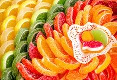 甜点橘子果酱糖果明胶果冻 免版税库存图片