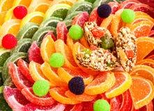甜点橘子果酱糖果明胶果冻 免版税图库摄影