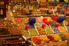 甜点汇集在巴塞罗那 免版税库存照片