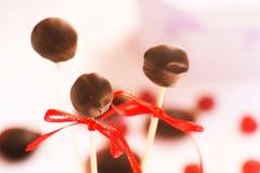 甜点用小杏仁饼和巧克力 免版税库存照片