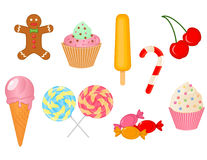 甜点的传染媒介汇集 免版税库存图片