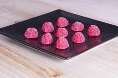 甜点草莓 免版税库存图片
