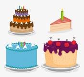 甜点蛋糕设置了象 向量例证