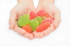 结冻甜点,味道果子,糖果点心五颜六色在糖 免版税库存照片