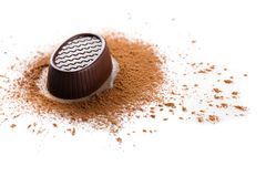 甜点,巧克力candie特写镜头 库存图片