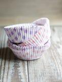 甜点-杯形蛋糕容器 免版税库存图片