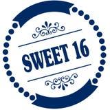 甜点16蓝色封印 图库摄影
