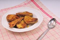 甜煮熟的土豆 库存照片
