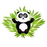 甜熊猫在竹子说谎 也corel凹道例证向量 皇族释放例证