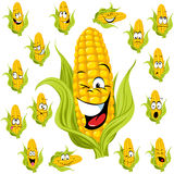 甜玉米动画片 免版税库存照片