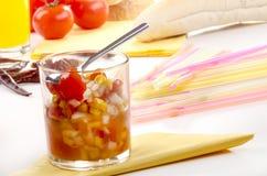 甜玉米和蕃茄美味 免版税库存图片