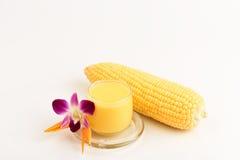 甜玉米汁 库存图片