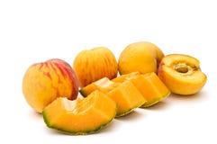 甜瓜桃子 免版税库存图片