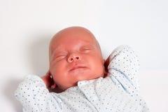 甜男婴休眠 库存图片