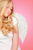 甜白肤金发的天使 免版税库存图片
