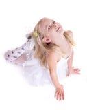 甜矮小的芭蕾舞女演员 免版税库存照片
