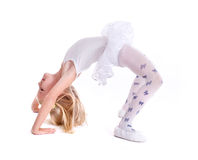 甜矮小的芭蕾舞女演员 库存照片
