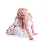 甜矮小的芭蕾舞女演员 库存图片