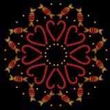 甜糖果圆的框架刺绣缝模仿 免版税图库摄影